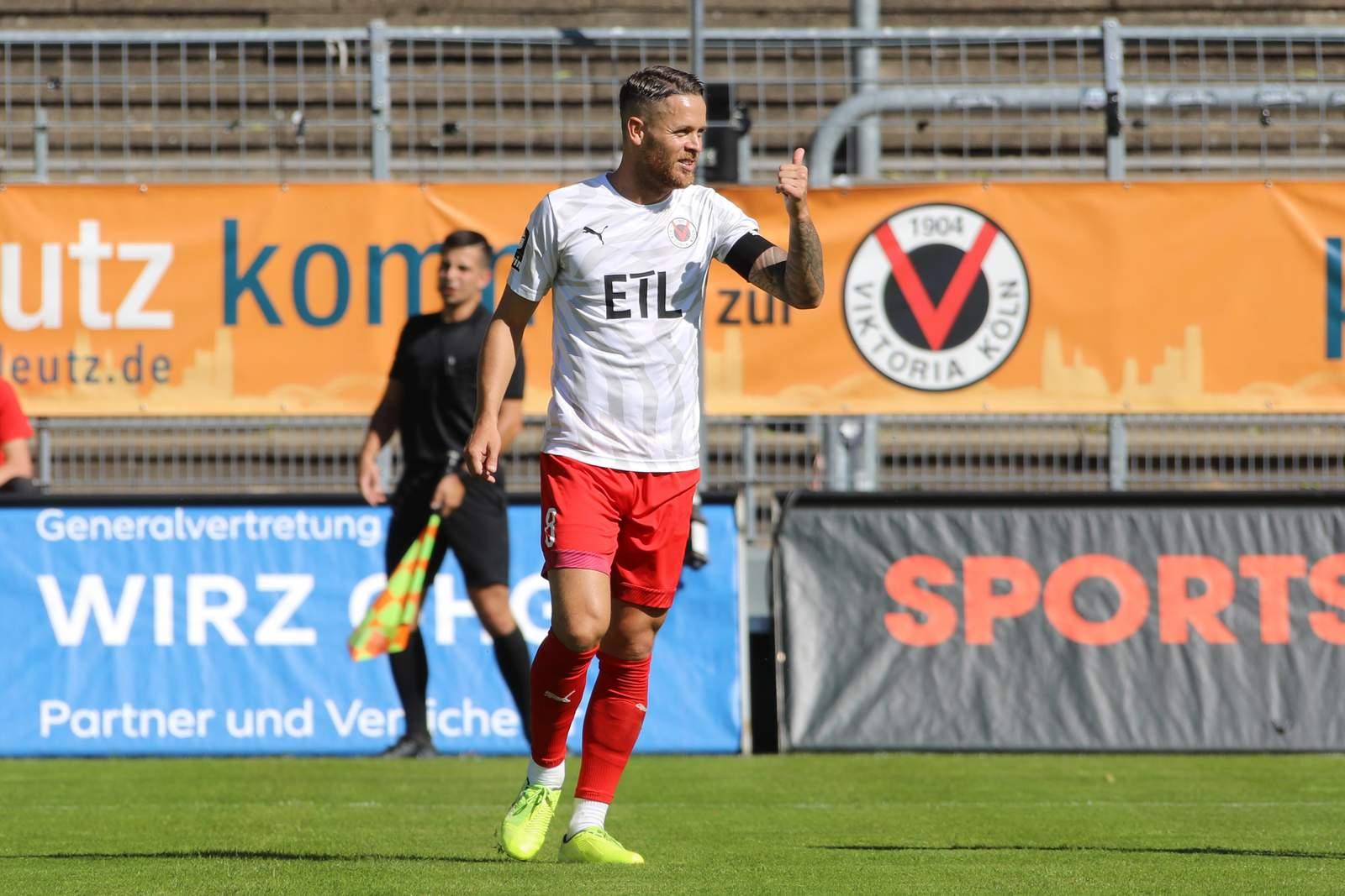 Mike Wunderlich im Spiel gegen Braunschweig.