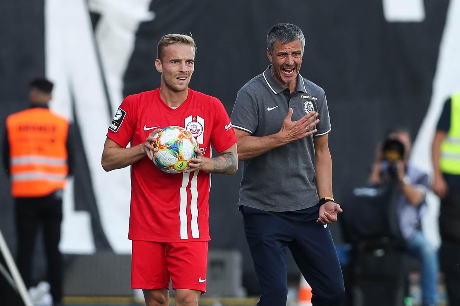 Nils Butzen und Jens Härtel bei Hansa Rostock