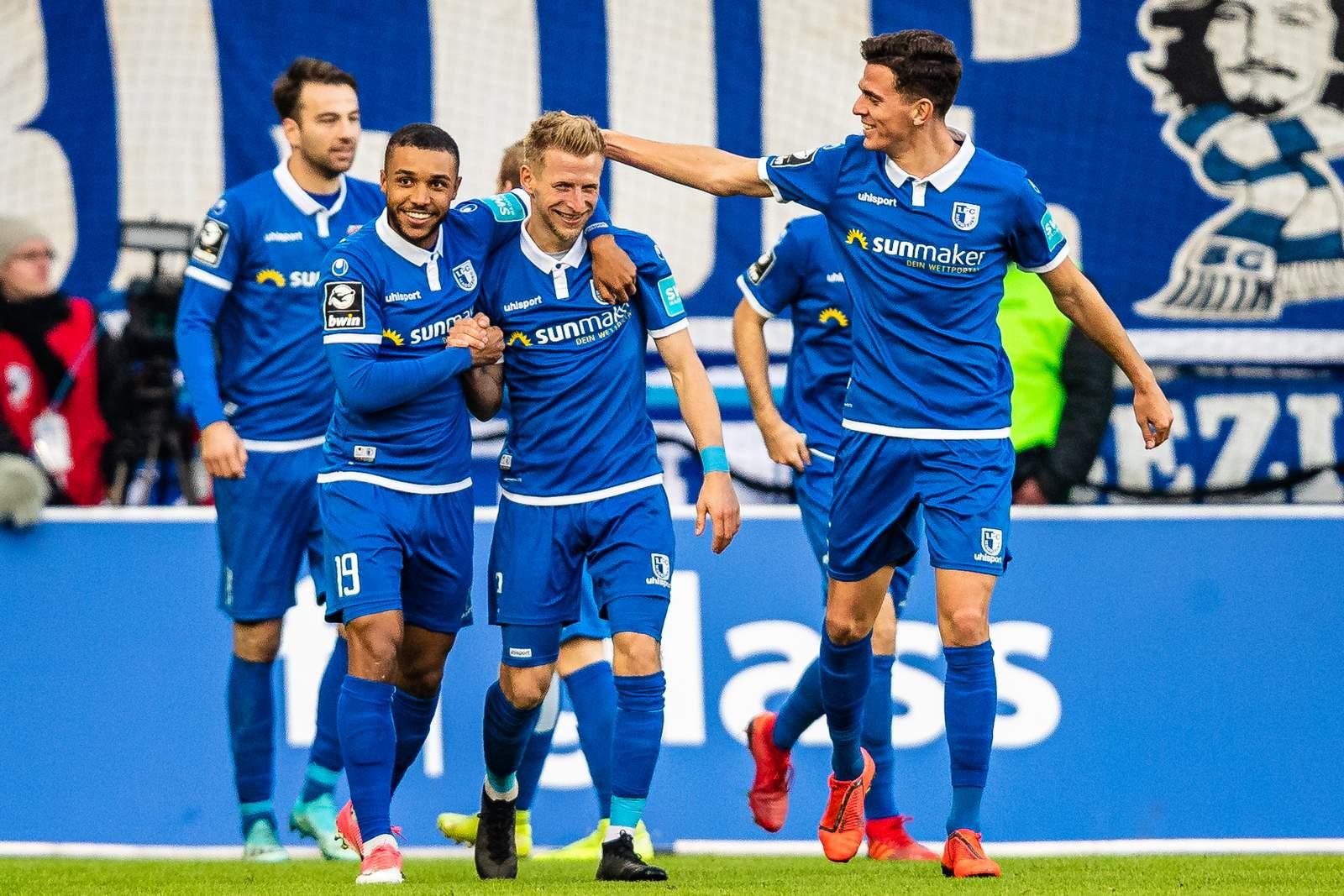 Jubel beim 1. FC Magdeburg