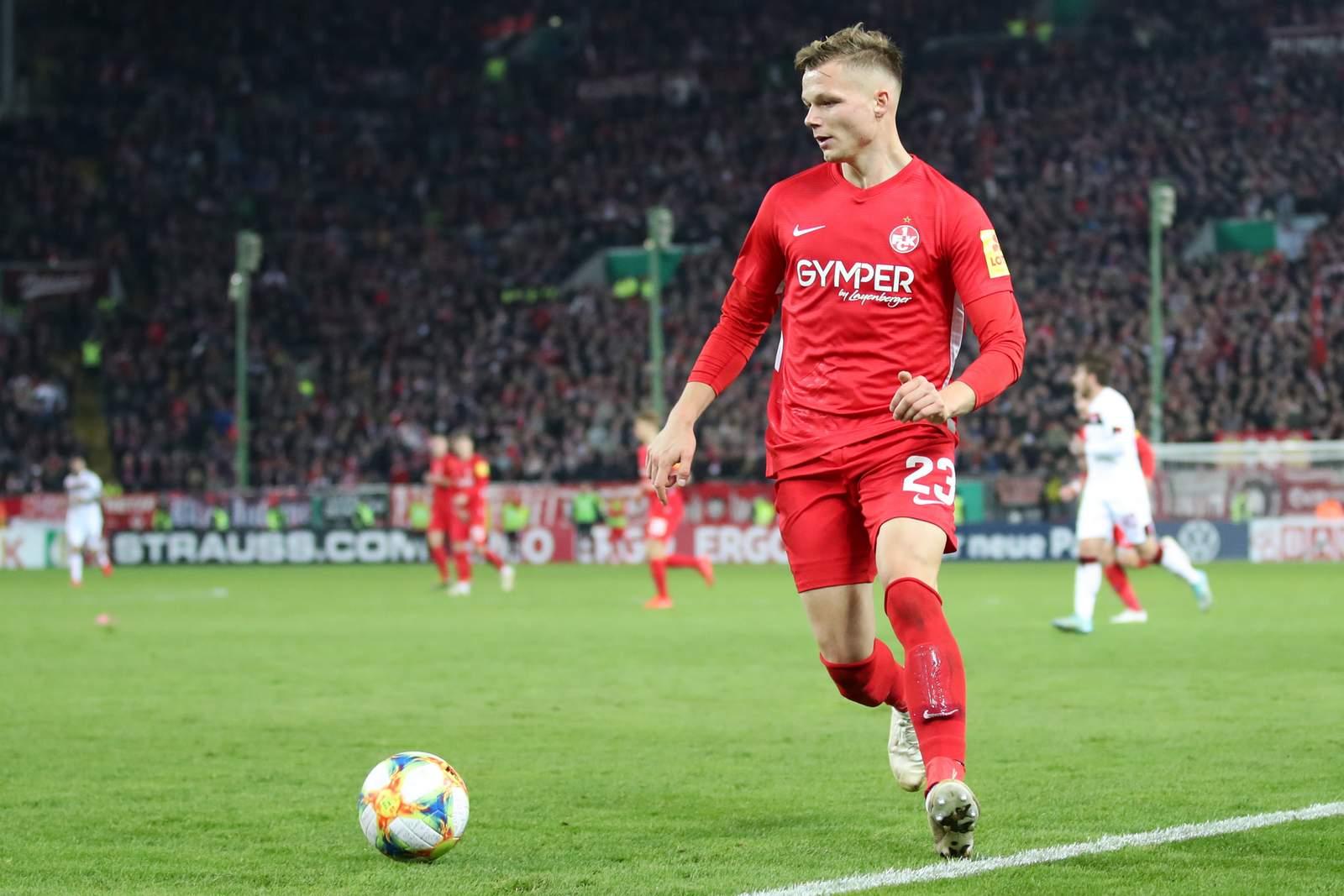 Philipp Hercher im Pokal gegen Nürnberg.