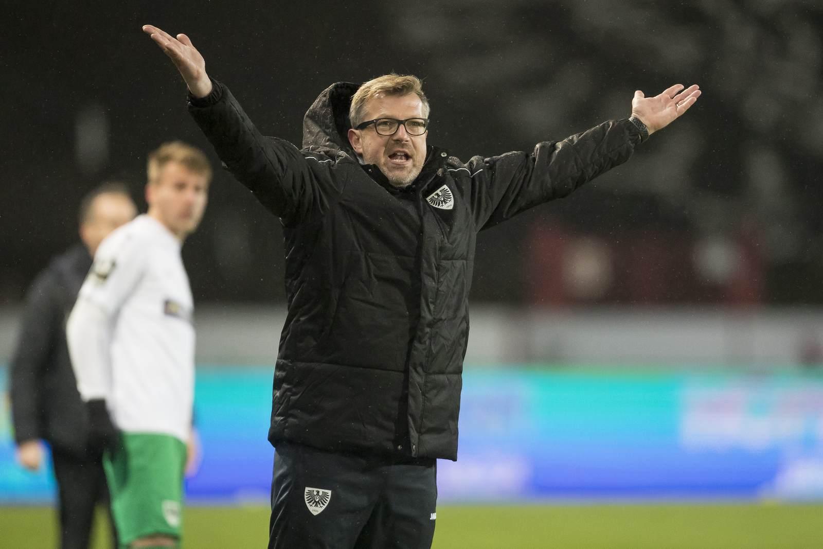 Preußen Münsters Trainer Sven Hübscher