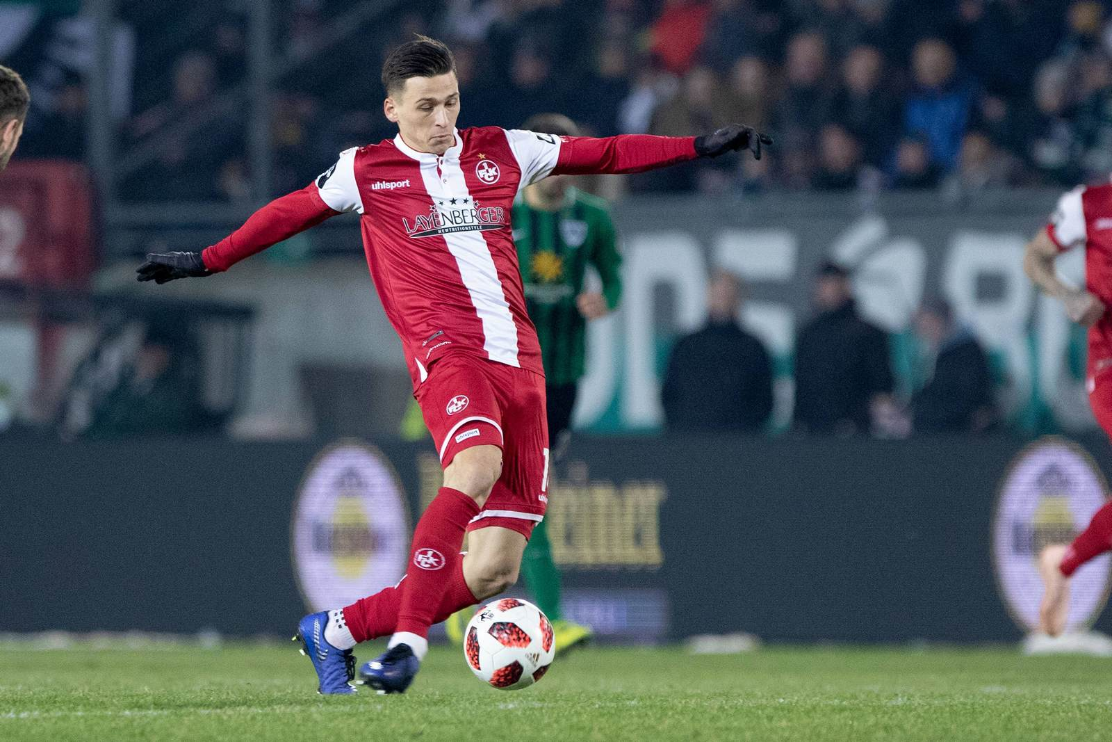 Theodor Bergmann am Ball für den FCK