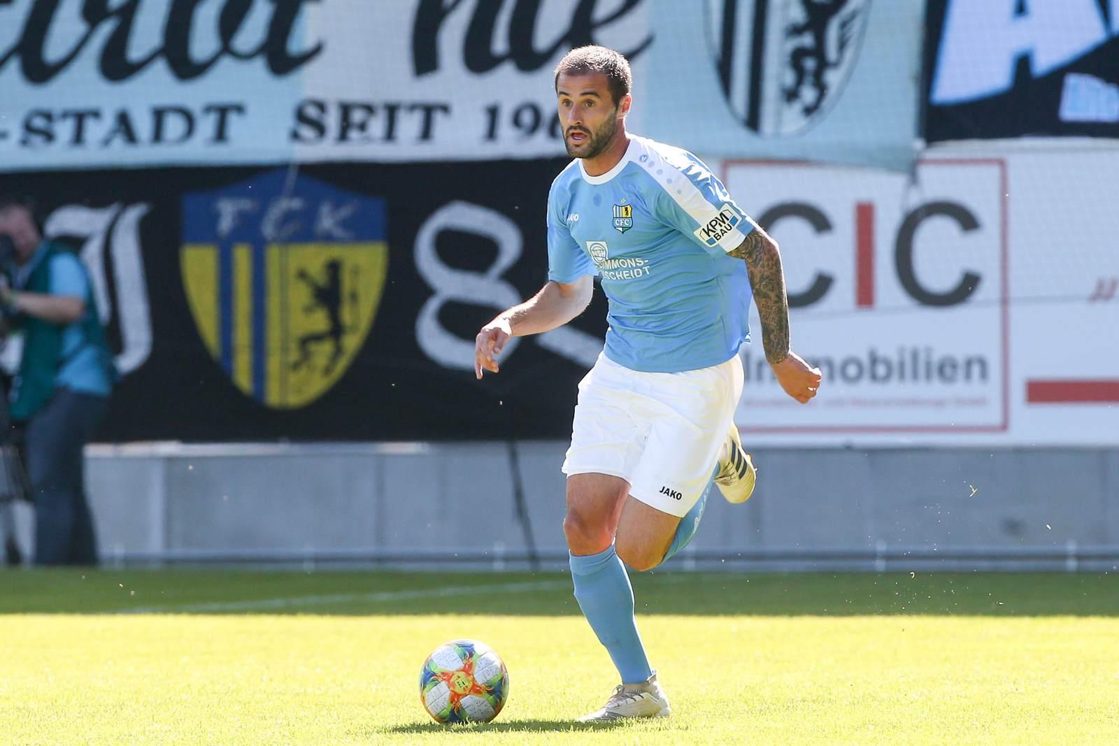 Thomas Doyle am Ball für den Chemnitzer FC
