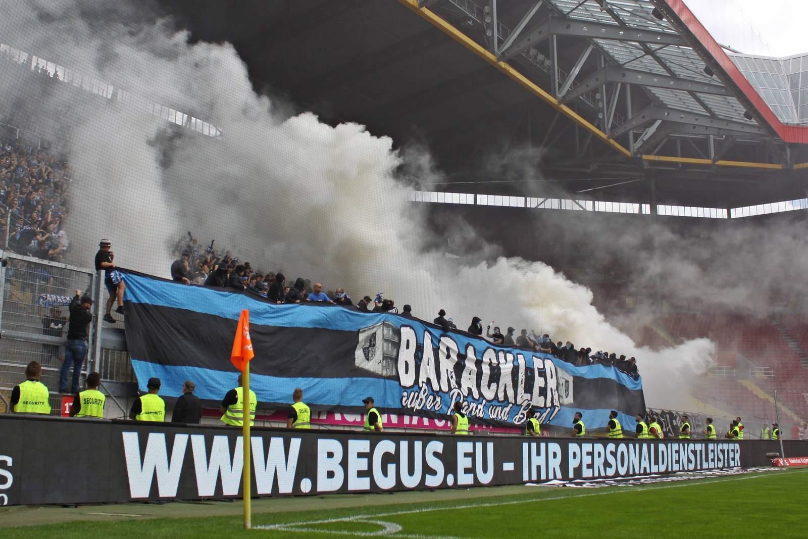 Waldhof-Fans auf dem Betzenberg.