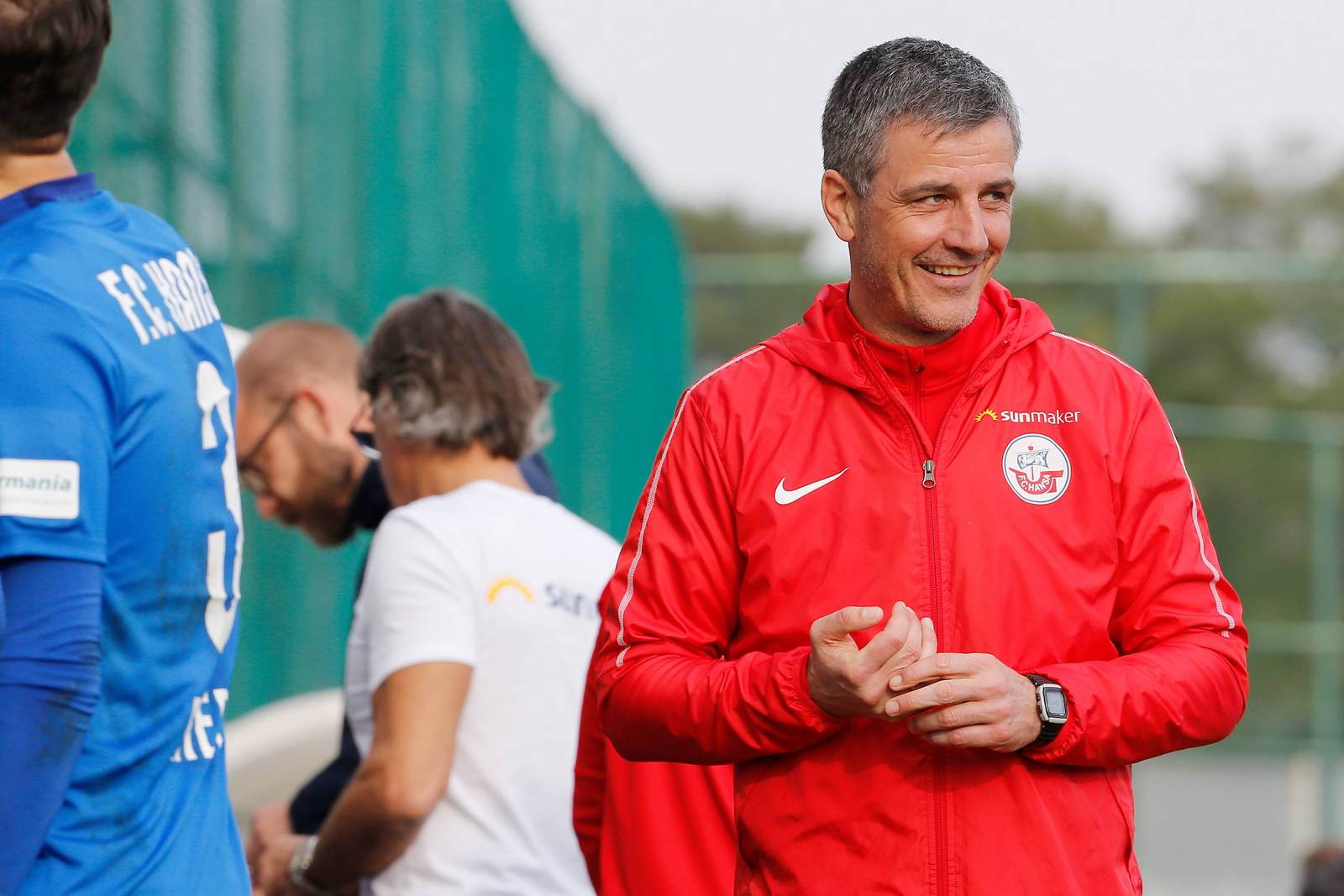 Jens Härtel als Trainer des FC Hansa Rostock