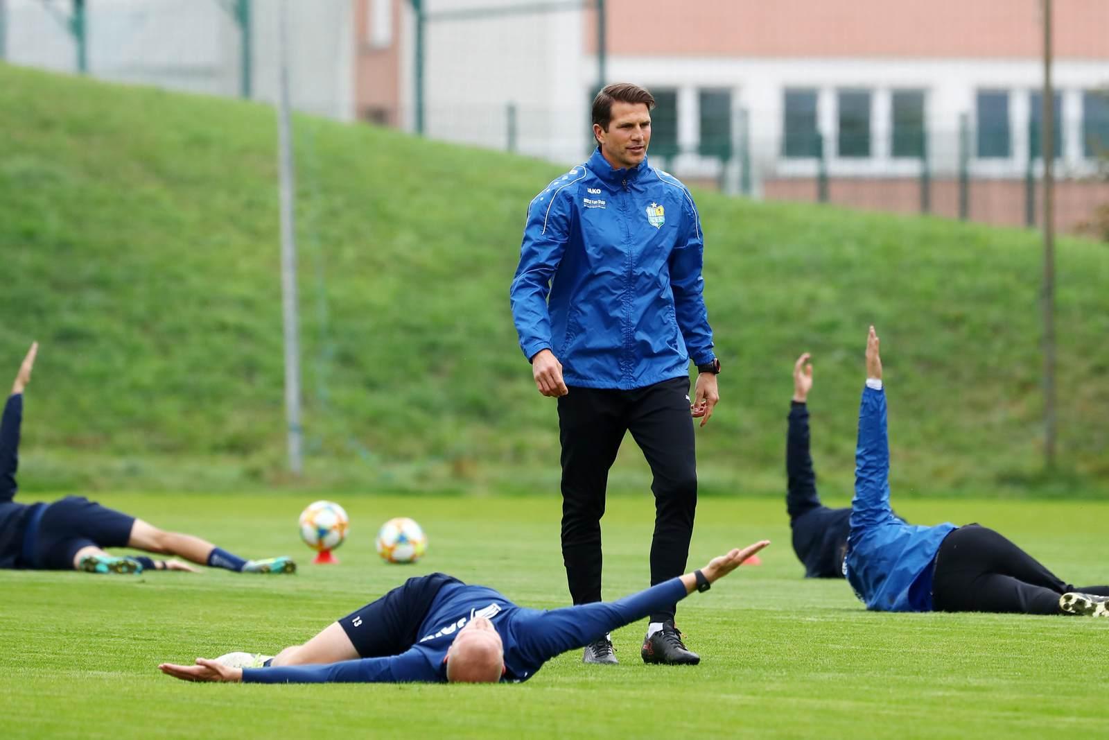 Patrick Glöckner als Trainer des Chemnitzer FC