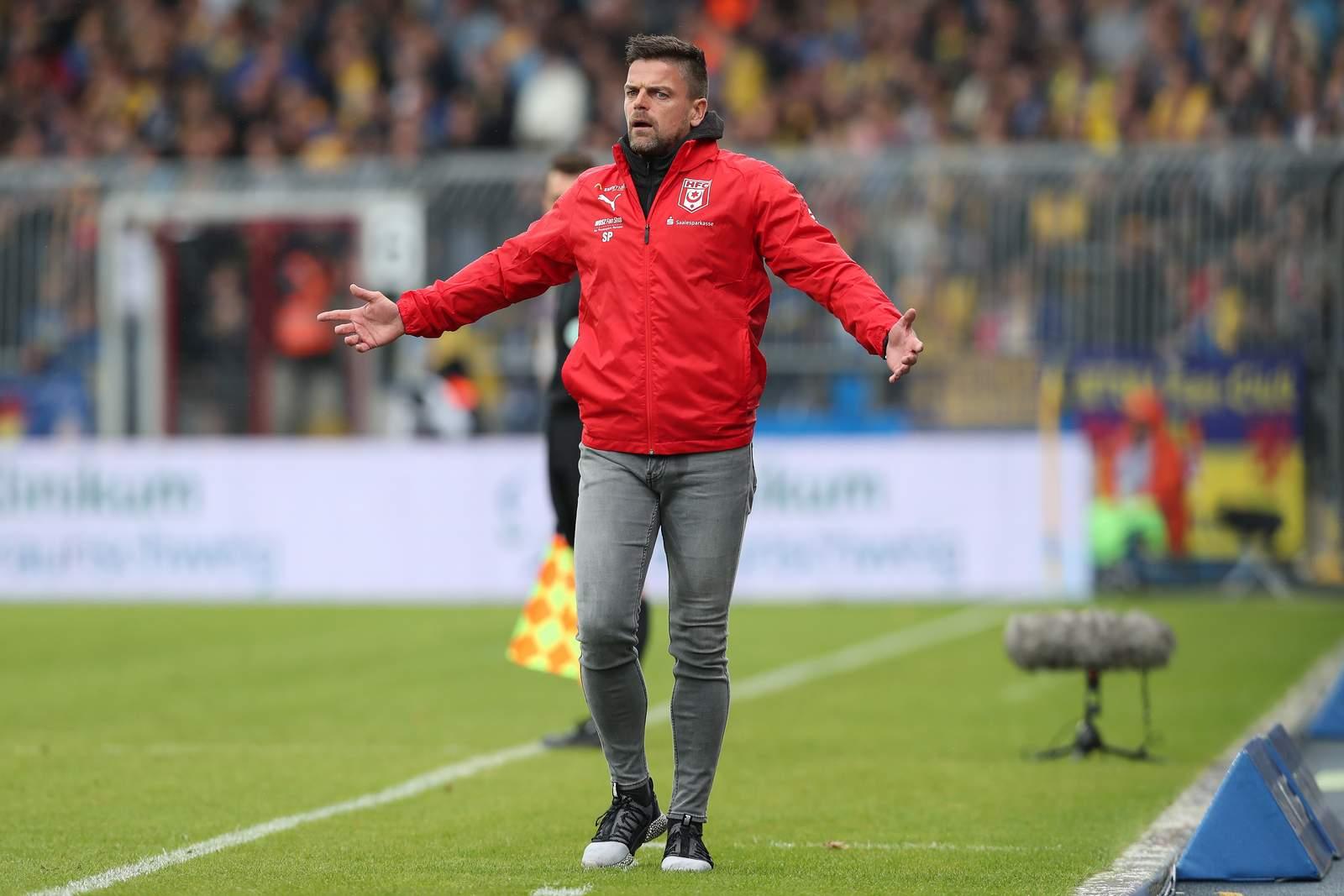 Torsten Ziegner im Spiel gegen Braunschweig.