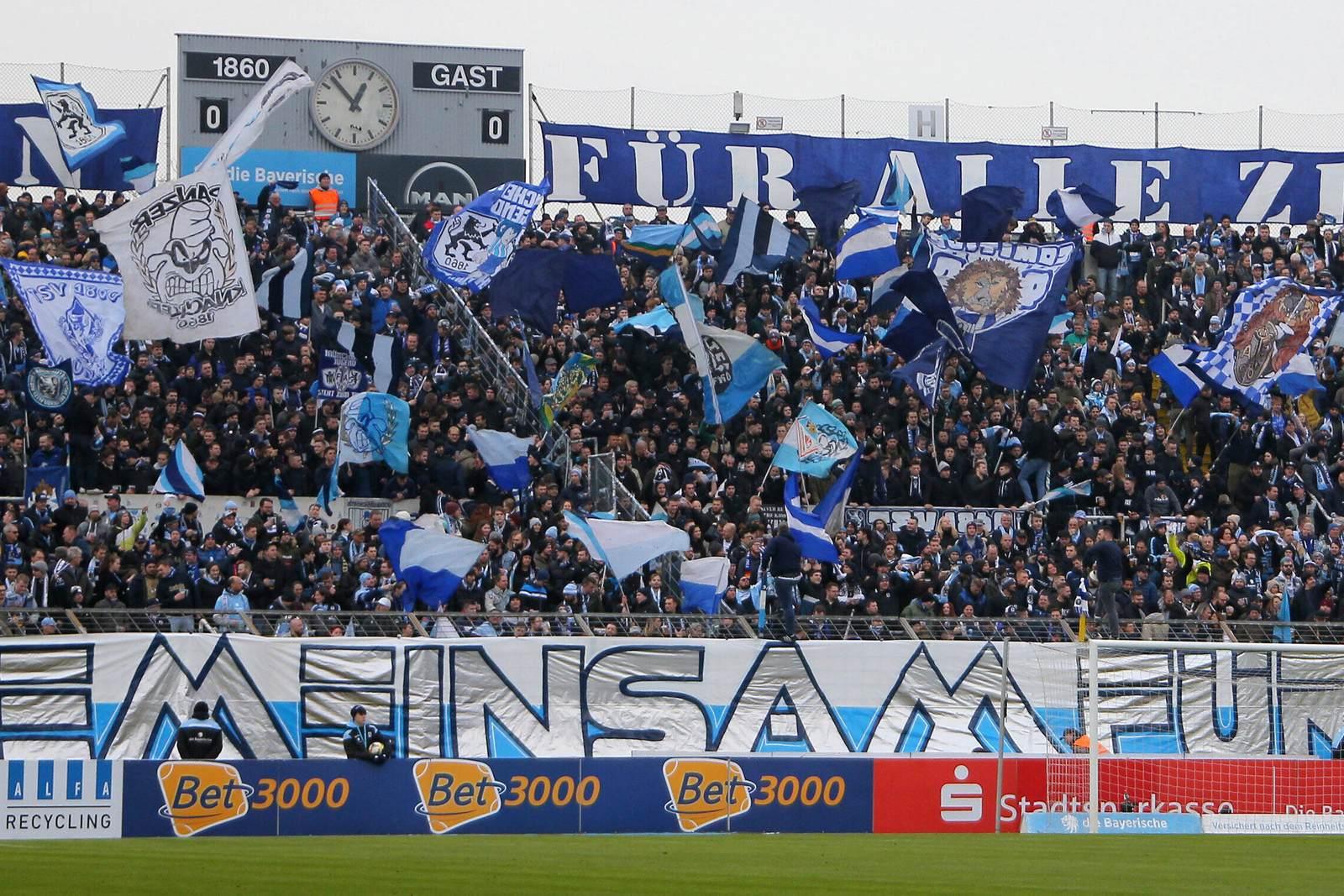 1860 München Fans vor dem Spiel