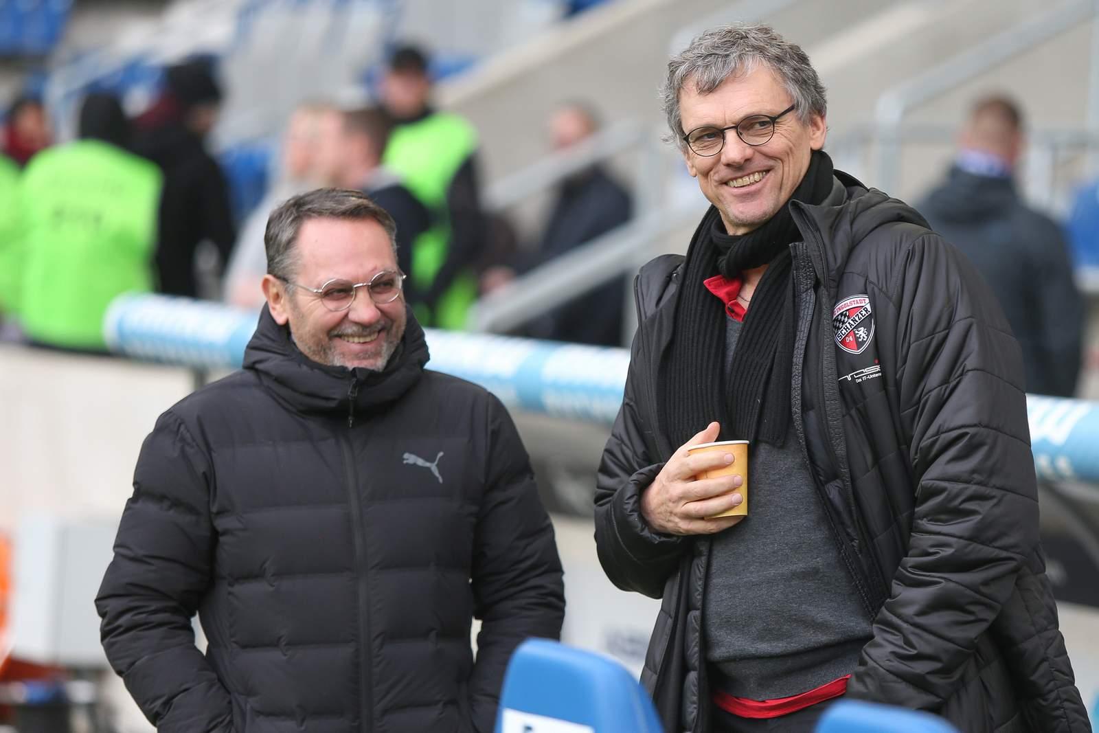 Franz Spitzauer und Michael henke vom FC Ingolstadt