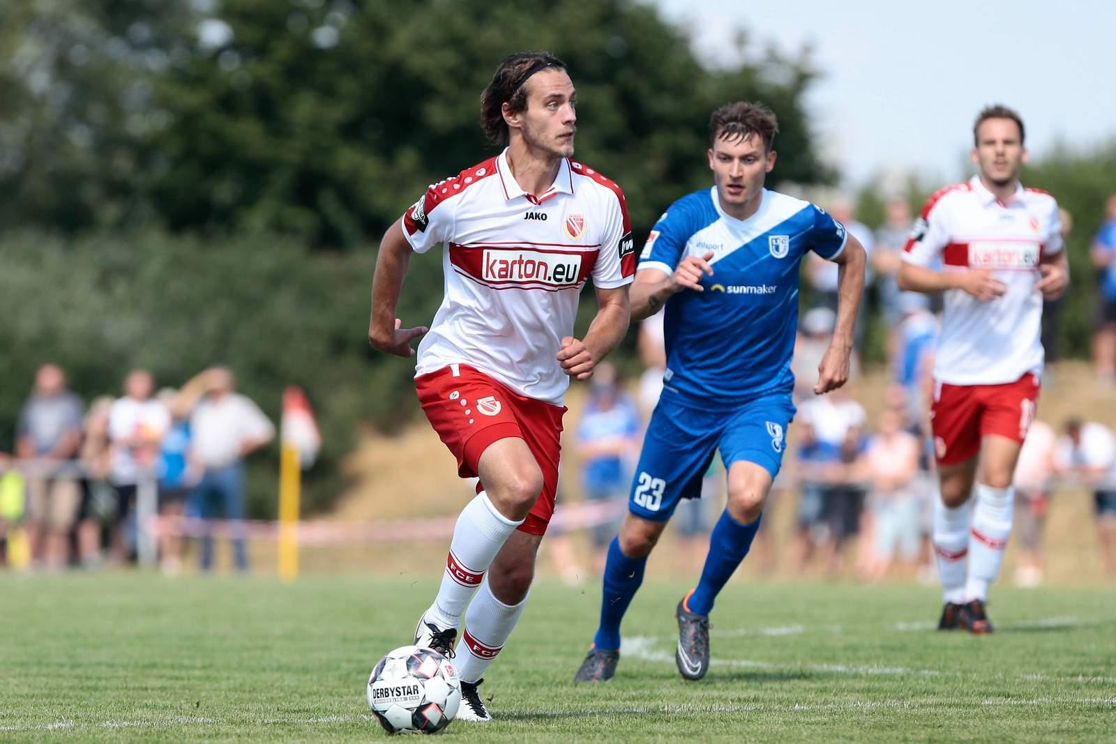 Daniel Stanese in der Vorbereitung 2018 gegen Magdeburg.
