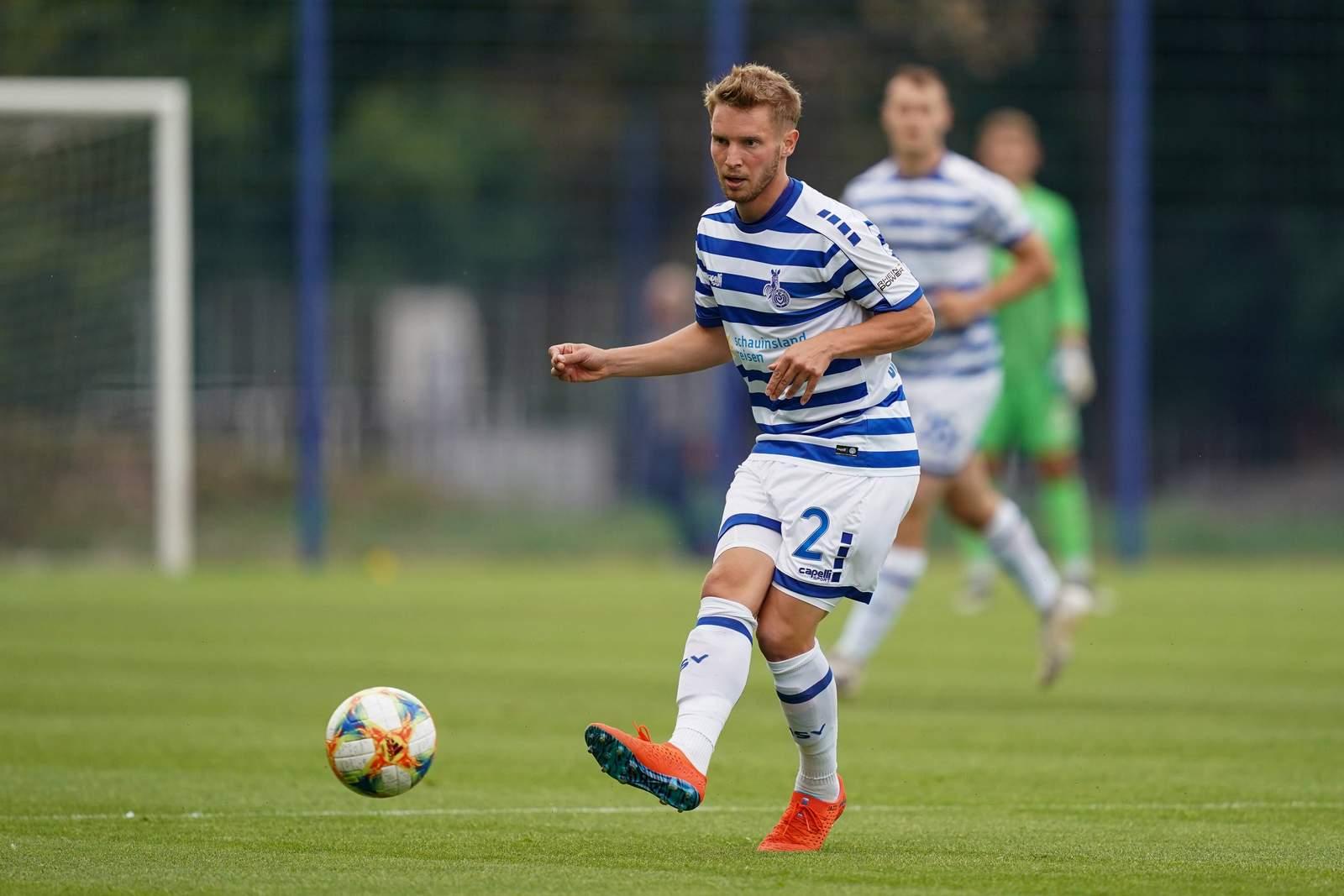Florian Brügmann im Test gegen ASC Dortmund.