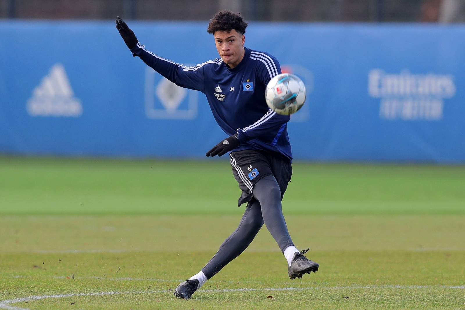 Jonas David im HSV-Training.