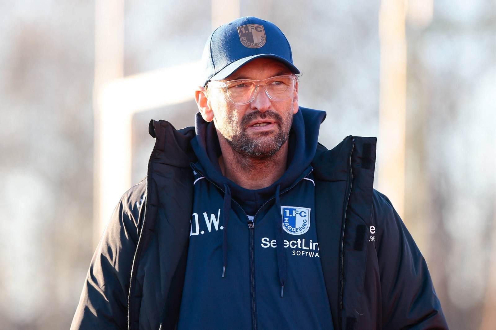 Pele Wollitz vom 1. FC Magdeburg