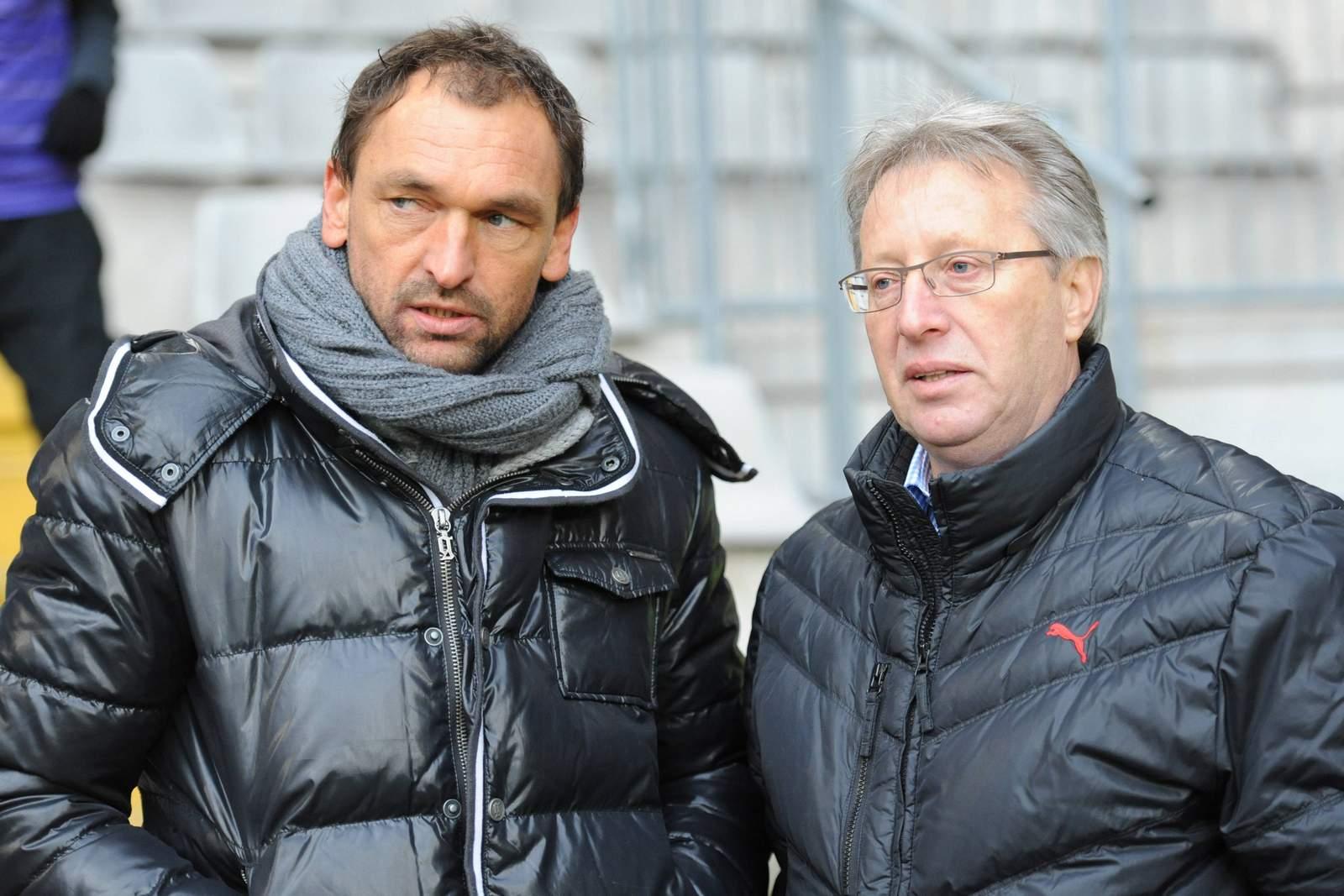 Pele Wollitz (l.) und Lothar Gans.