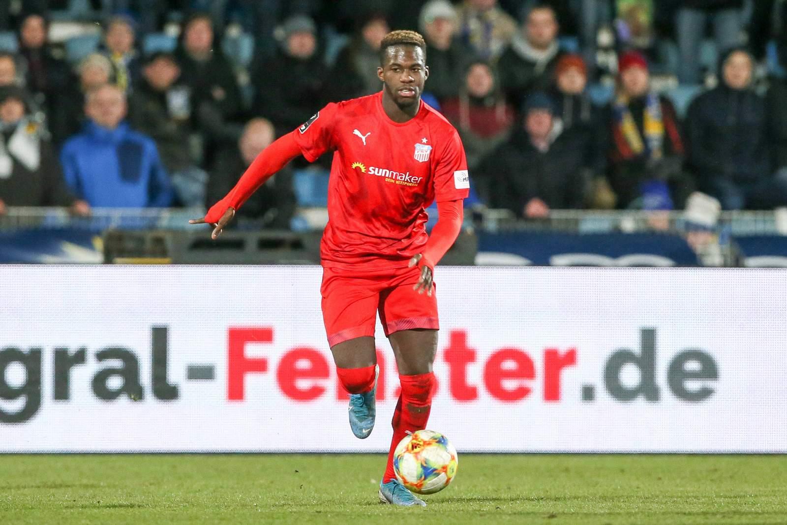 Johannes Dörfler im Spiel gegen Jena.
