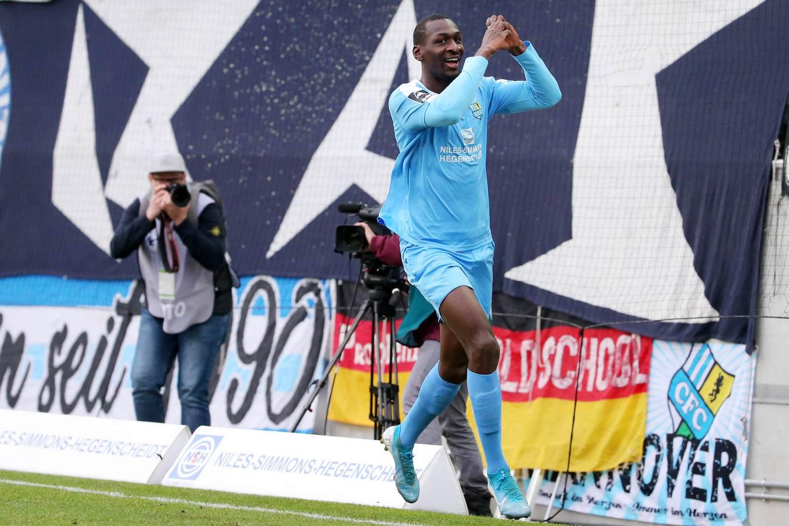 Tarsis Bonga beim Chemnitzer FC