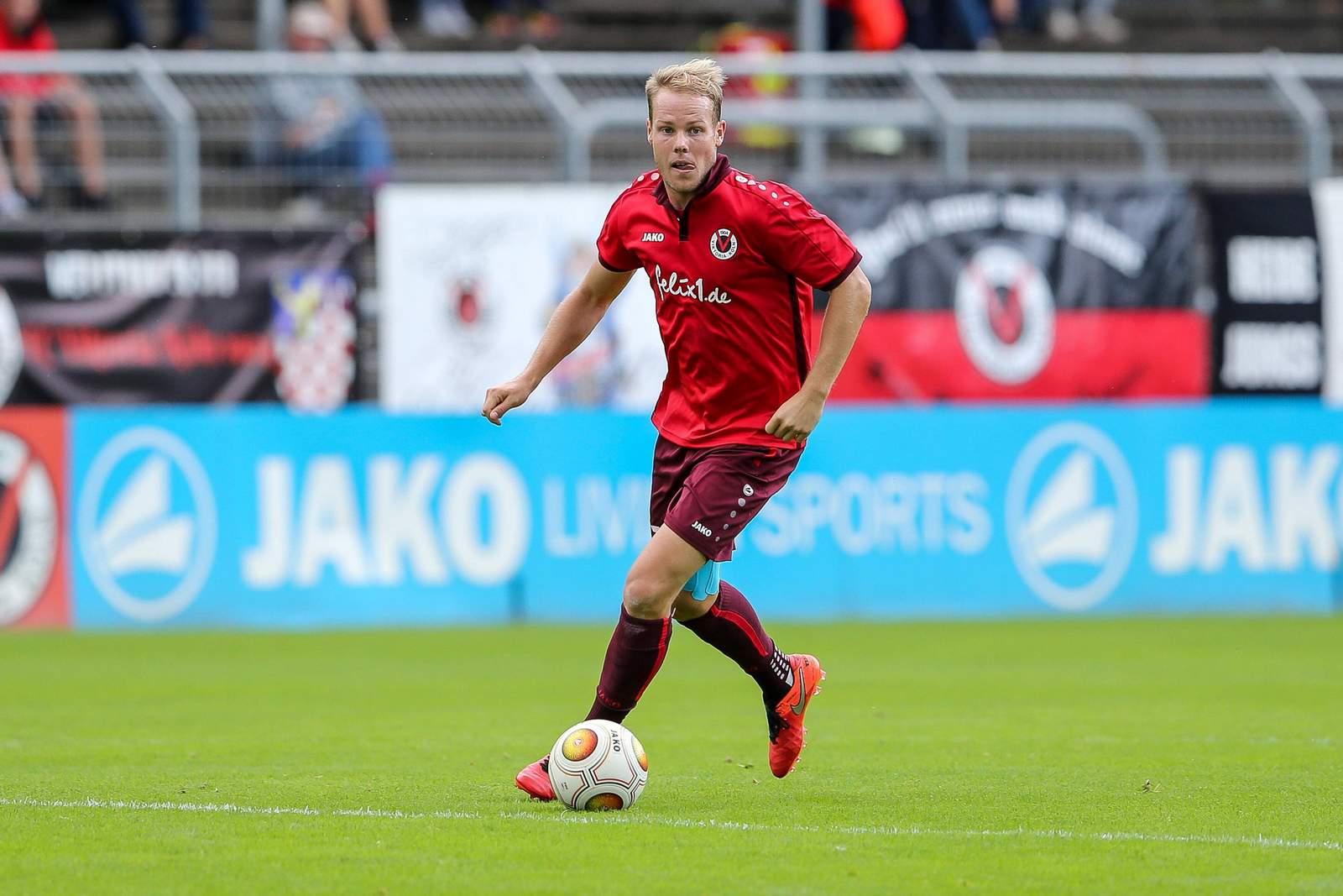 Lukas Nottbeck im Spiel gegen Mönchengladbach II.
