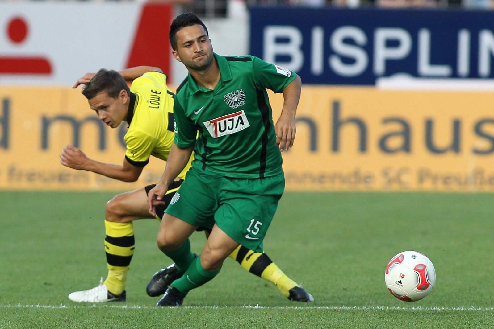 Mahmut Sönmez im Test gegen Borussia Dortmund.