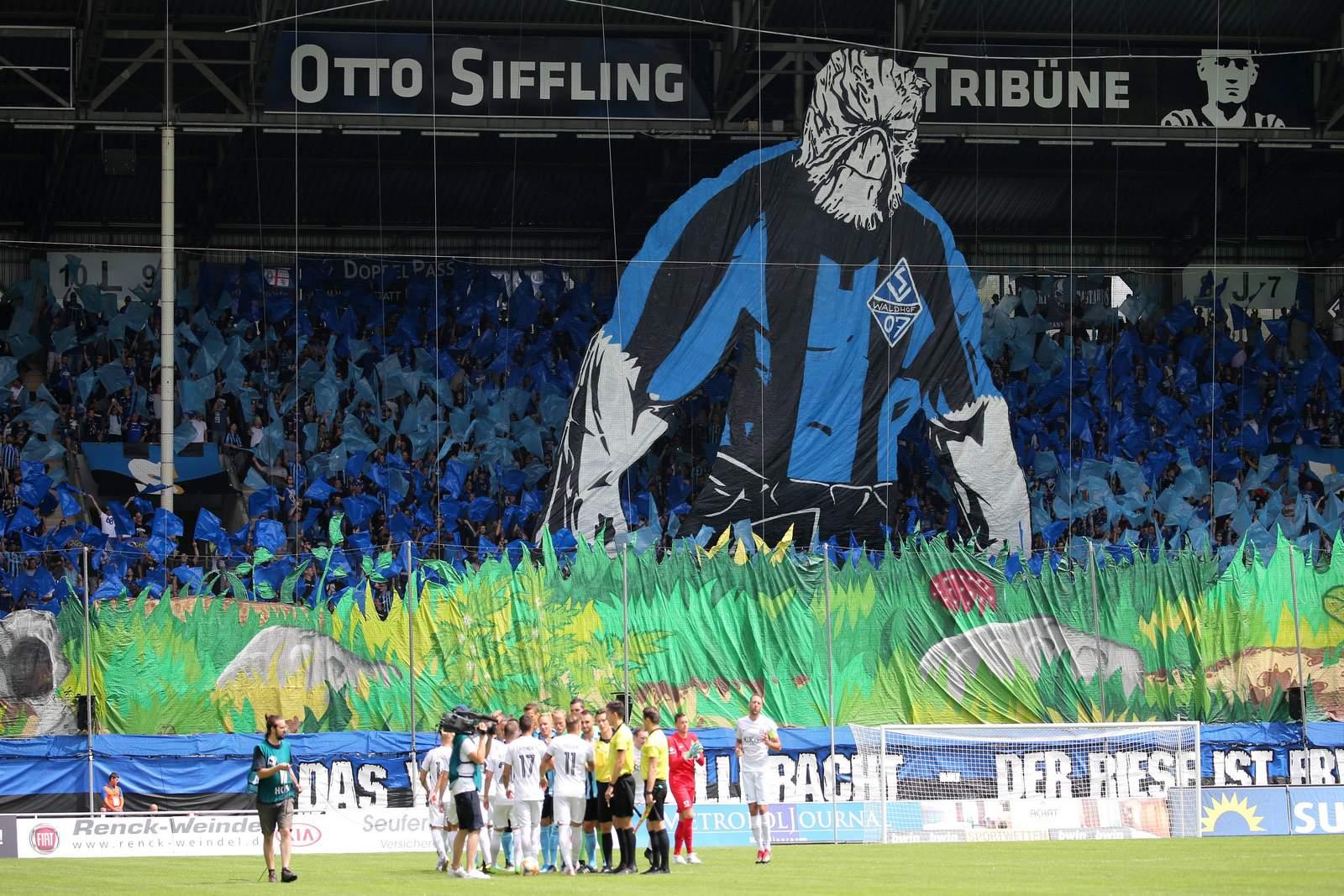 Choreo von Fans des SV Waldhof mannheim