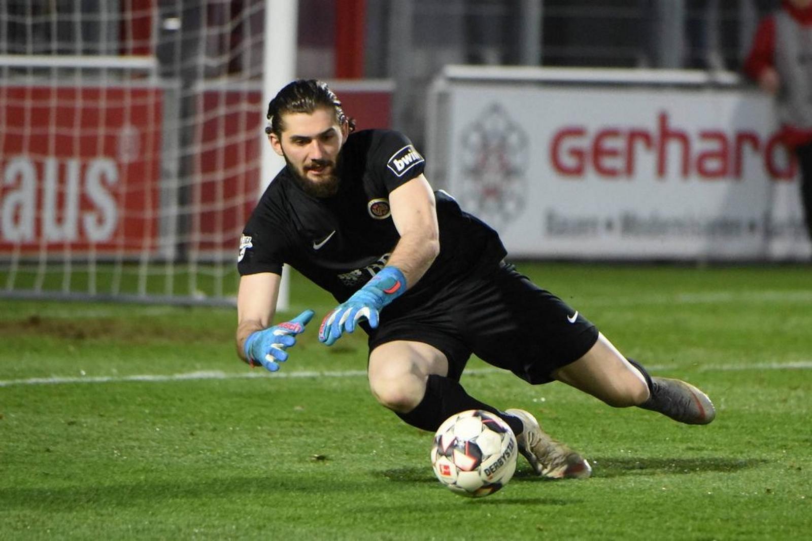 Lukas Watkowiak im Testspiel.