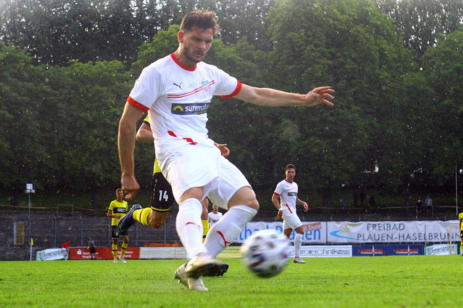 Marco Schikora im Test gegen Plautzen.
