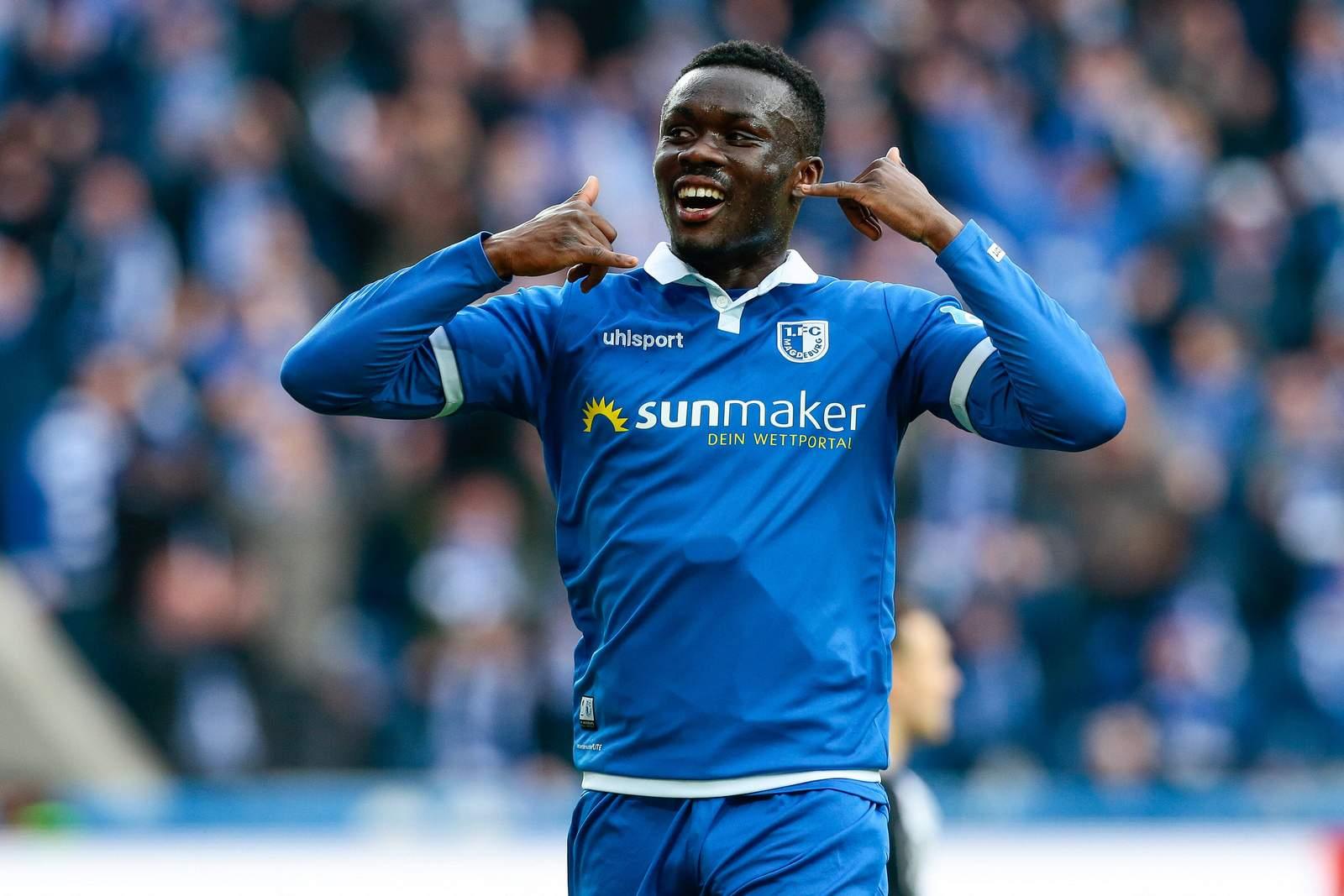 Sirlord Conteh vom 1. FC Magdeburg