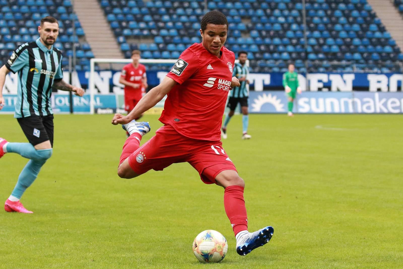 Malik Tillmann gegen Waldhof Mannheim.