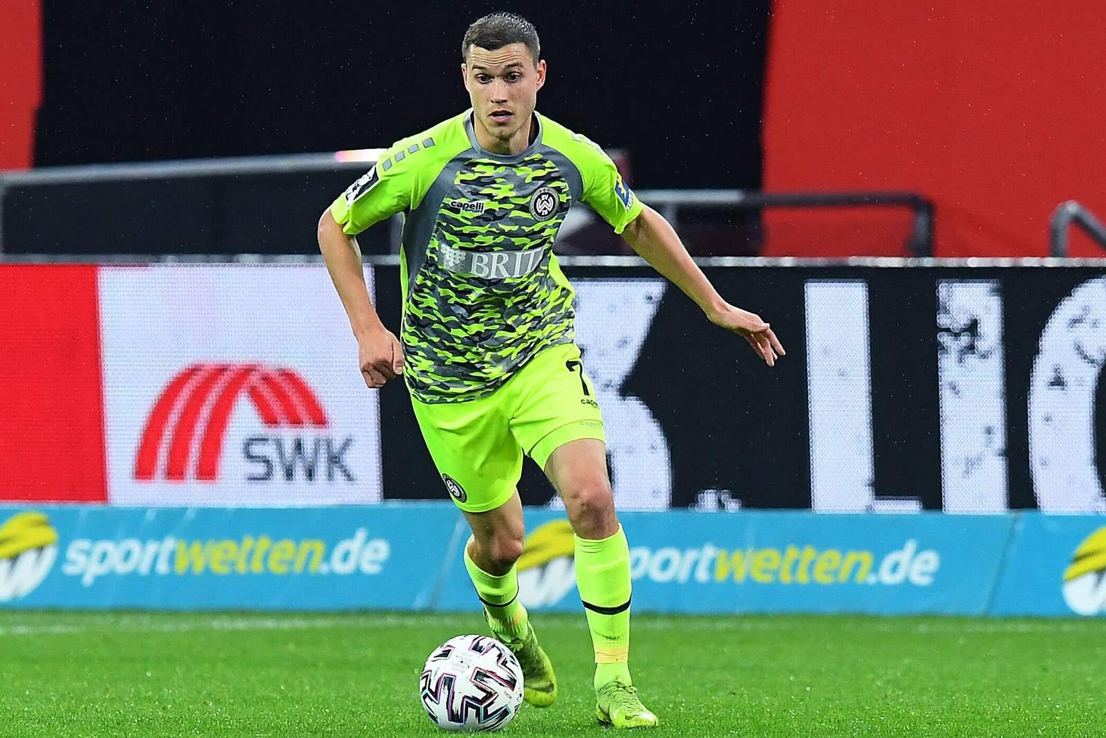 Gianluca Korte im Spiel gegen Uerdingen.