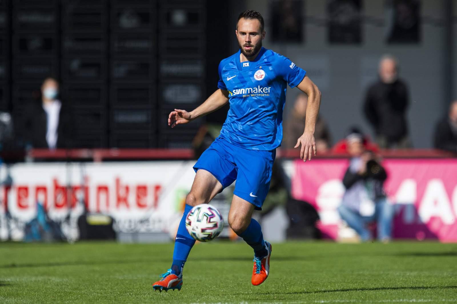 Pascal Breier im Auswärtsspiel beim SC Verl.