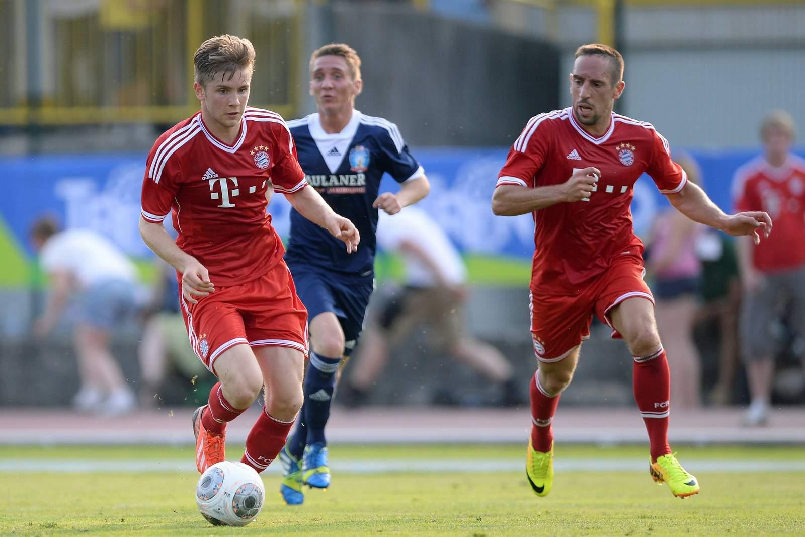 Patrick Reihrauch (l.) im Testspiel der Bayern.