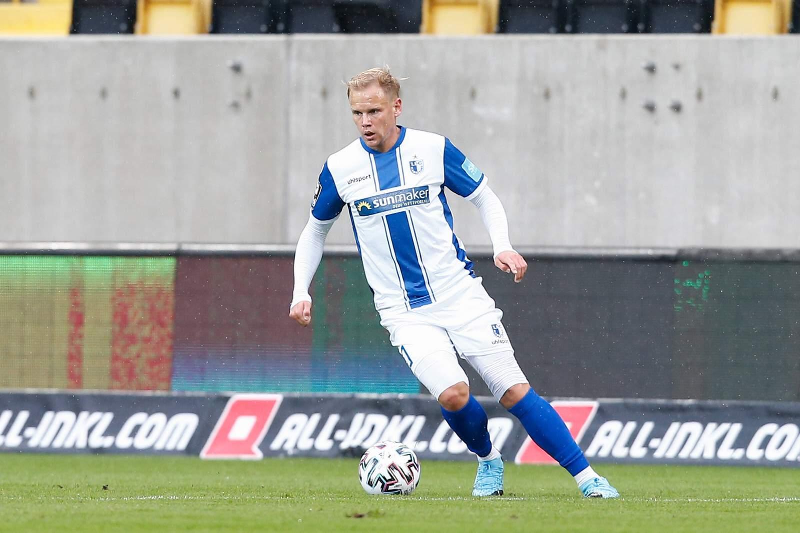 Sören Bertram beim Auswärtsspiel in Dresden.