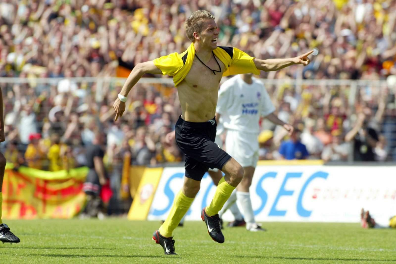 Ranisav Jovanovic jubelt für Dynamo Dresden