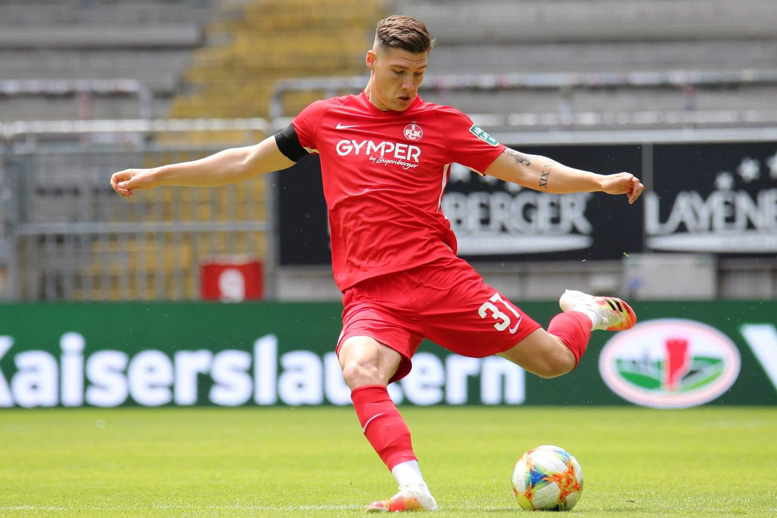Jonas Scholz im Spiel gegen die FC Bayern U23.