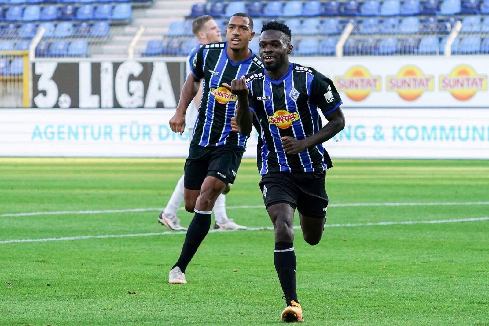 Joseph Boyamba jubelt gegen Magdeburg.