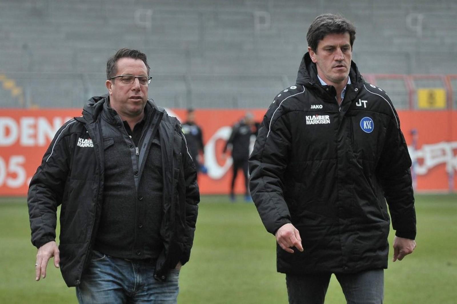 Jens Todt und Markus Kauczinski beim KSC