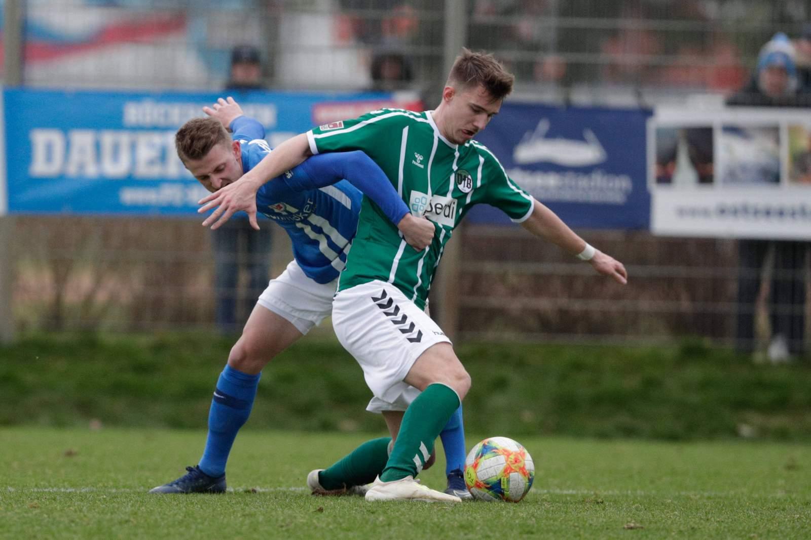 Sören Lippert im Testspiel gegen Hansa Rostock.